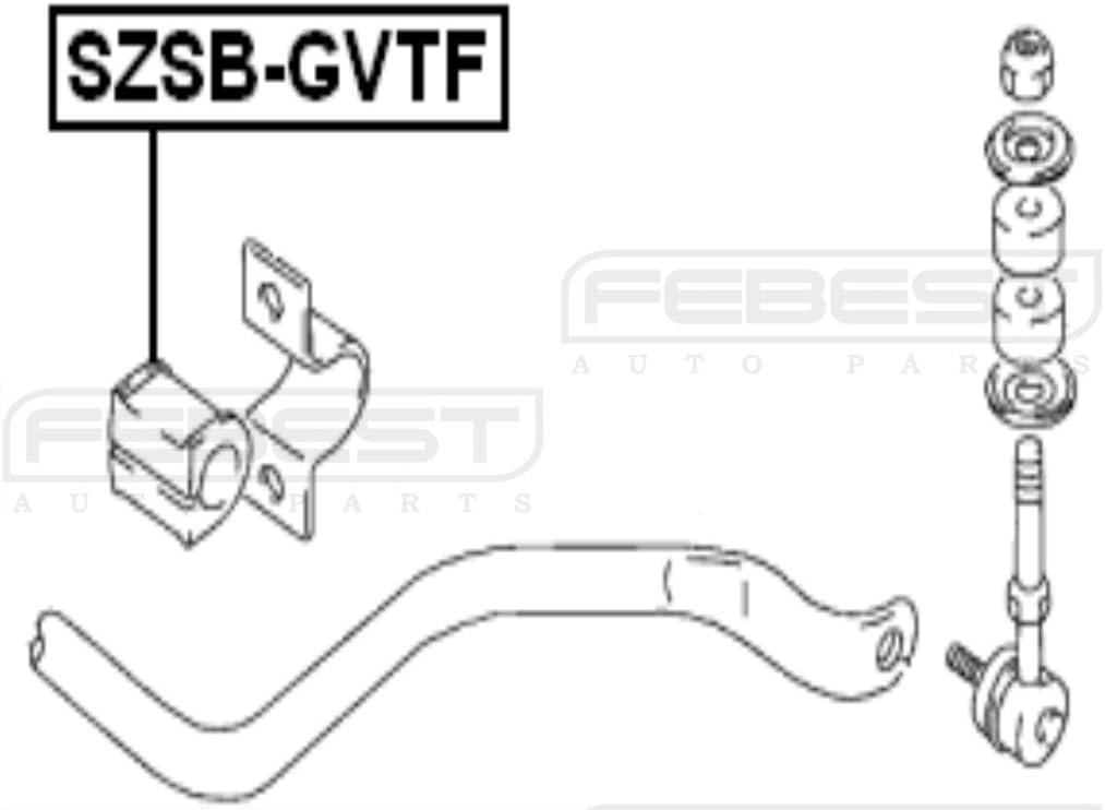 Stabilizer// Sway Bar Bushing FRONT 4241265D00 D23 For Suzuki