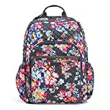 Vera Bradley Iconic Campus Backpack, Signature Cotton, Pretty Posies: more info