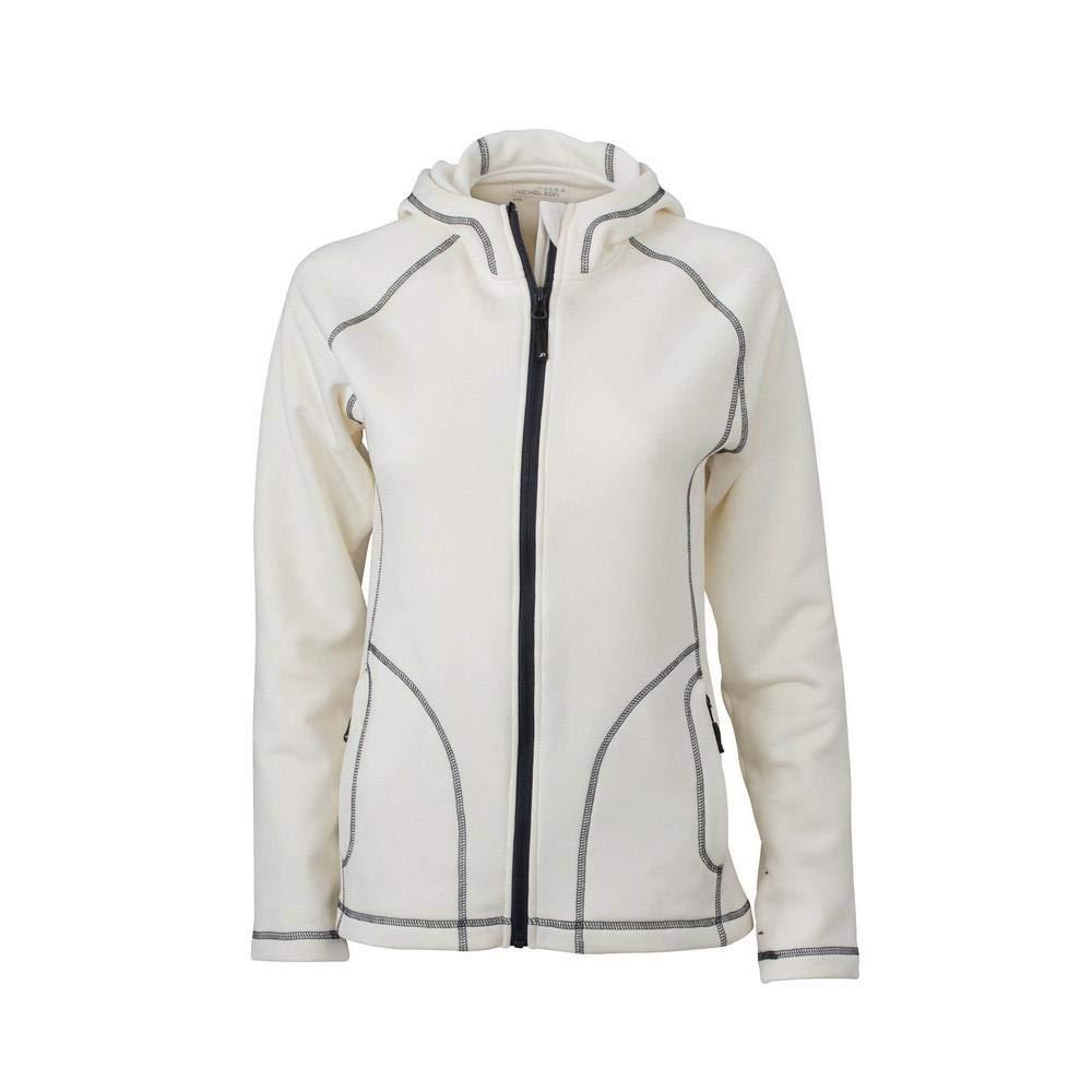 Off White Carbon Grey UK Size  XXL James and Nicholson Womens Ladies Stretch Fleece Jacket