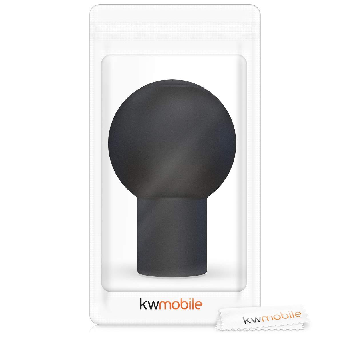 Coprimanopola cambio auto in silicone antiscivolo Guscio protettivo manopola con marce nero kwmobile Copri pomello per pomello del cambio tondo 5 marce tipo B