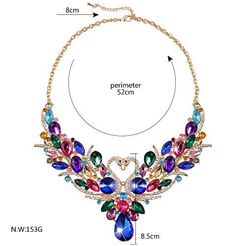 SEKAISORA Fashion Elegant Fine Diamond Necklace Temperament With Swan Set jewelry Set Chain by SEKAISORA (Image #5)