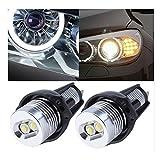 AV SUPPLY 2 X 6W 7000K Ultra-Bright BMW ANGEL EYES MARKER Halo Ring LED Lighting Bulbs for BMW 3 series E90 / E91, 63117161444