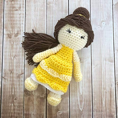 Princess Belle Inspired Doll// Beauty and the Beast Doll//Soft Toy Doll// Plush Toy// Stuffed Toy Doll//Amigurumi Doll// Baby Doll MADE TO ORDER