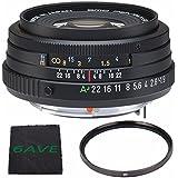 Pentax SMCP-FA 43mm f/1.9 Limited Series Autofocus Lens (Black) + UV Filter + MicroFiber Cloth 6AVE Bundle