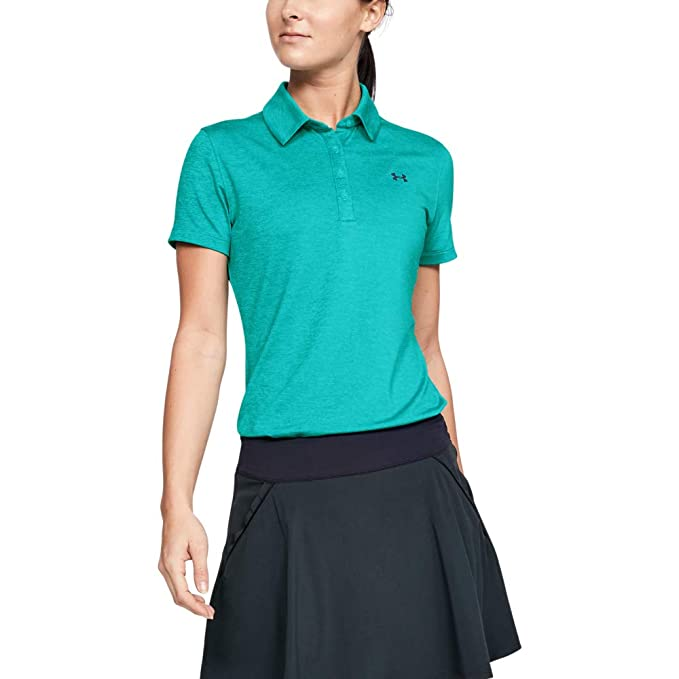 Under Armour (UNDKU) Zinger Camisa Polo, Mujer, Azul, SM: Amazon ...