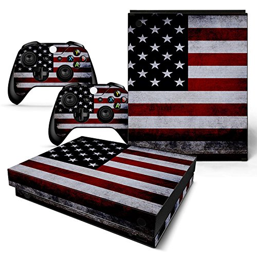 CSBC Skins Xbox One X Design Foils Faceplate Set - USA 2 Design