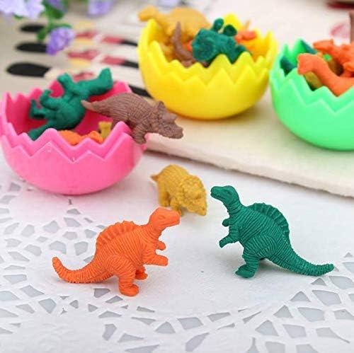 Gwill 48/pz Gomma da cancellare mini cute Dinosaur Egg Eraser box scuola cancelleria per ufficio colore casuale 5/* 4/cm