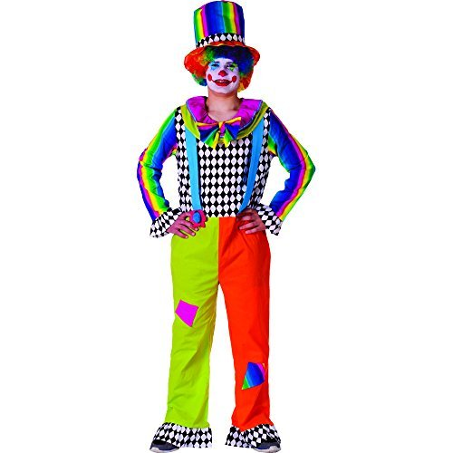 Star Clown Costumes (Dress Up America Adult Jolly Clown Costume (XL) by Dress Up America)