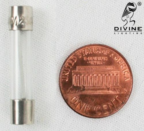 Glass 1//4 in x 1.25 in Divine Lighting AGC 1.6A Fast-Blow Fuse 1.6 Amp 250v AGC1.6A; AGC1.6 AGC 1.6A Fast-Blow Fuse 5 Qty