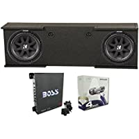 2) KICKER 43C124 12 600W Subs + GMC Chevy 07-13 Crew Enclosure + Amp + Wiring