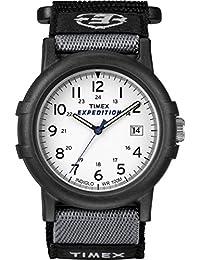 Men's T49713 Expedition Camper Analog Quartz Black/White Watch