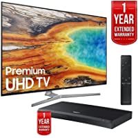 Samsung UN55MU9000 55-Inch 4K UHD Smart LED TV (2017 Model) with Samsung UBD-M9500 4K Ultra HD Blu-ray Player (both with 1 Year Extended Warranties)
