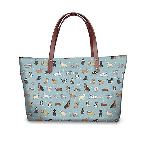showudesigns, Sac pour Femme à Porter à l'épaule Multicolore éléphant Dog 3