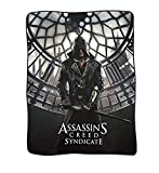 JUST FUNKY Assassin's Creed Syndicate Polar Fleece Balnket (Multi Color 4560) - (Xbox/PS4 Video Game Playstation) Gifts & Merchandise Decorative Wall Hanging Sofa Throw