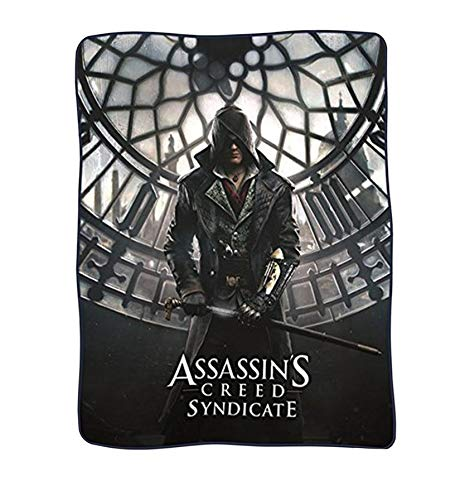 Soft Video Game - JUST FUNKY Assassin's Creed Syndicate Polar Fleece Balnket (Multi Color 4560) - (Xbox/PS4 Video Game Playstation) Gifts & Merchandise Decorative Wall Hanging Sofa Throw