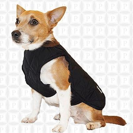Pawberry Classic - Abrigo para Perro con arnés Integrado, 31 cm, Color Negro