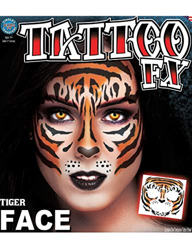 Loftus Tinsley Transfers Tiger Face Tattoo