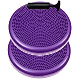 2 Pack - Inflated Stability Balance Disc, Including Free Pump - Bulk Packaging