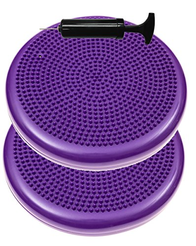 2 Pack - Inflated Stability Balance Disc, Including Free Pump - Bulk (Seating Disc)