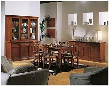 EsteaMobili Sala Completa salón aparador cristalliera Mesa sillas ...
