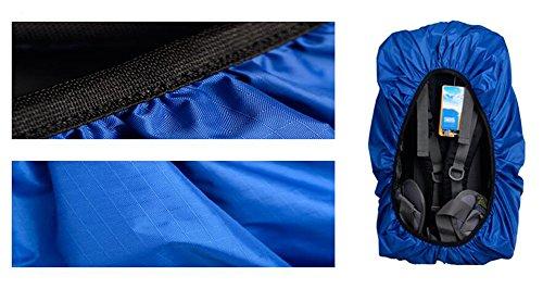 Außenreitplatz Rucksack-Regen-Abdeckung wasserdichte Abdeckung-40 L See-Blau