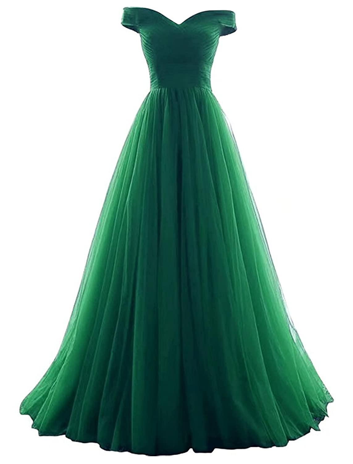 VICKYBEN VKBRIDAL Women's A-Line Tulle Prom Formal Evening Homecoming Dress Ball Gown