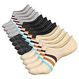 Zshawn No Show Socks Women 3 to 6 Pairs Womens Cotton Low Cut Socks Non-Slip Grips Casual Low Cut Boat Sock Size 6-11
