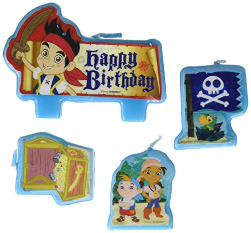 Amscan Party Time Disney Jake and The Neverland Pirates Birthday Candle, Saver Pack of 6 (Each Includes 4 Pieces), Made from Wax, for Birthday