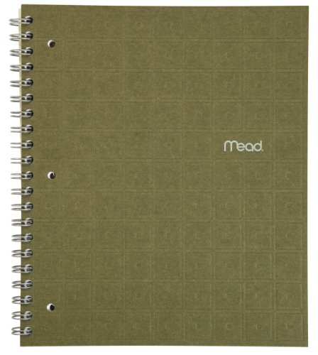 Mead Spiral Notebook, 1 Subject, College Ruled Paper, 80 Sheets, 11