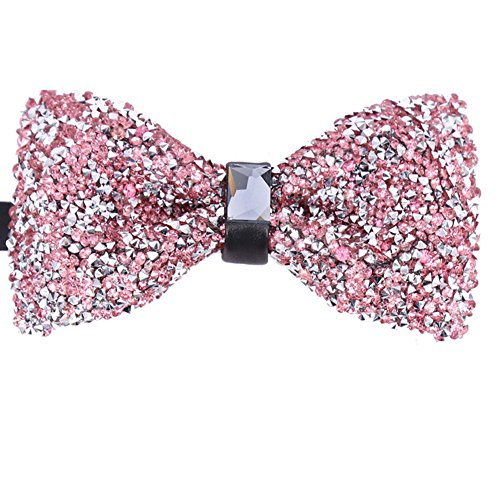 Men's Novelty Blush Pink Elegant Adjustable Pre-tied COOL Bow Ties For Men Boys