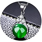 LIYALI Women's Necklace Clavicle Chain Short Necklace Simple Wild Turn Beads Crystal Pendant Necklace
