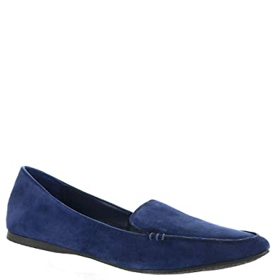 9caea74079f Image Unavailable. Image not available for. Color  Steve Madden Women s Feather  Loafer Flat Navy Suede ...