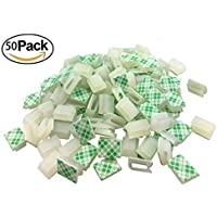 Ethernet Cable Clips,Ruaeoda 60 Pack 8mm Self-Adhesive Wire Clips, Cord Clamp Cable Management for Cat6 Cat5 and Cat7…