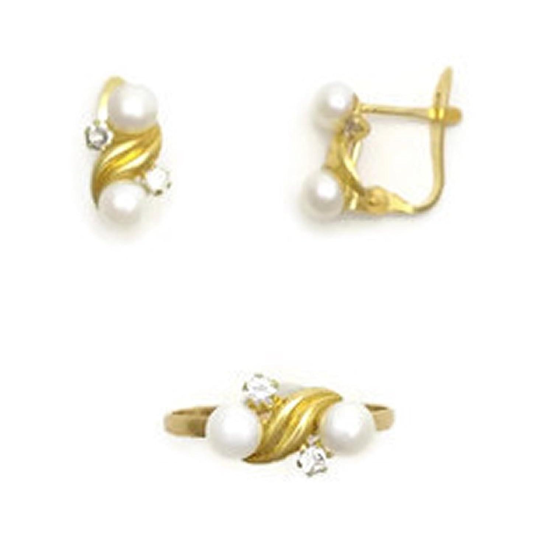 b502760edeaa Conjunto de Oro 18K de Anillo y Pendientes para Niñas J. Luis J.L ...