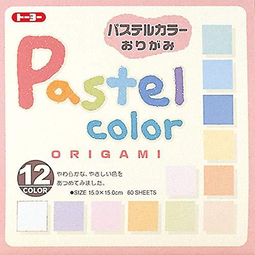 Toyo Origami, Pastel Color 15cm x 15cm 12 Colors 5 Each ()