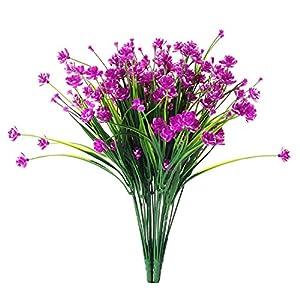 JAKY Global Babys Breath Gypsophila Artificial Flowers 4 Bundle Fake Daffodils Greenery Shrubs Plants Decor Wedding Party DIY Home Garden(Rose) 89