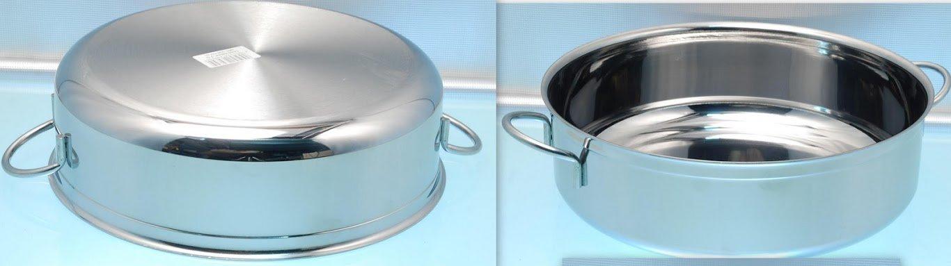 NOVIX Cazuela 2 Asas DIAM 30 cm - Acero 18/10 para para ...