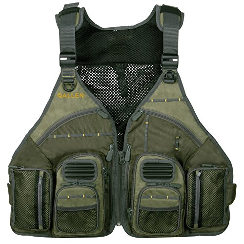 - Allen Company, Big Horn Fishing Chest Vest with MOLLE Web Gear Lash, with Hydration Storage Pocket, Fishing Outdoor Gear