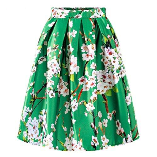 Da Donne Elastica Festa Gonna Gonna Estiva In Casual Alta Verde Elegante Vita Donna Abito Da Moda Di a Lihaer Pieghe EqPn4zZ4