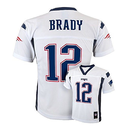 Jual Tom Brady New England Patriots NFL Youth White Road Mid-Tier ... b53eb92d7