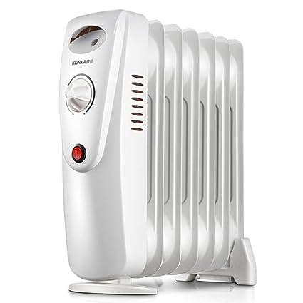 Heater GJM Shop Calentador De Radiador De Aceite 800W 7 Piezas Mini para La Oficina En