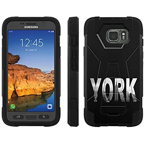 AT&T [Galaxy S7 Active] ShockProof Case [ArmorXtreme] [Black/Black] Hybrid Defender [Kickstand] - [York] for Samsung Galaxy [S7 Active] Sales