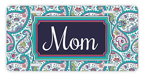 ThisWear Mom License Plate Paisley Best Mom Gifts New Mom Novelty License Plate Mom