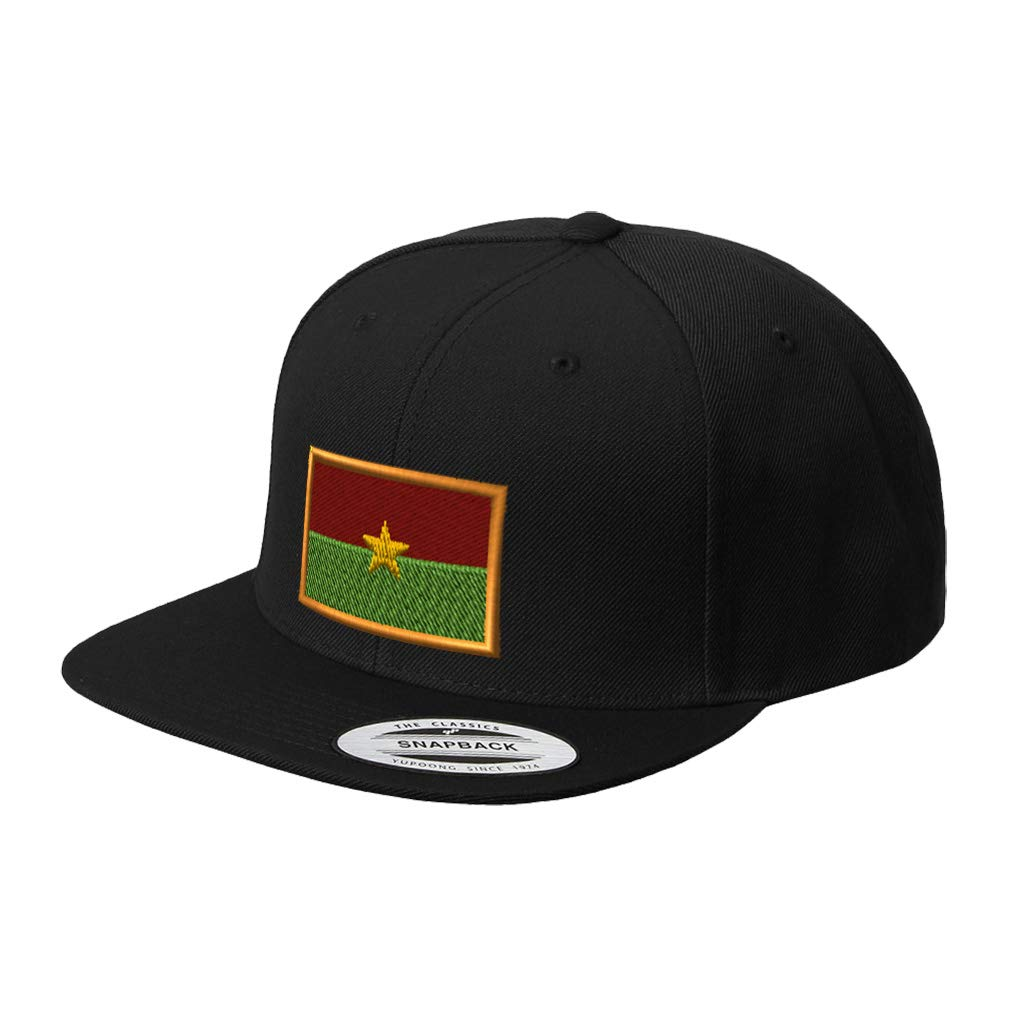 Custom Snapback Baseball Cap Burkina Faso Embroidery Design Acrylic Cap Snaps