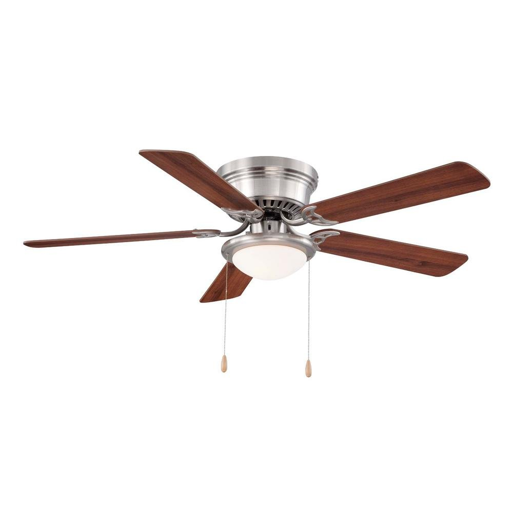 Hugger 52 in. LED Brushed Nickel Ceiling Fan 1002269802 – New