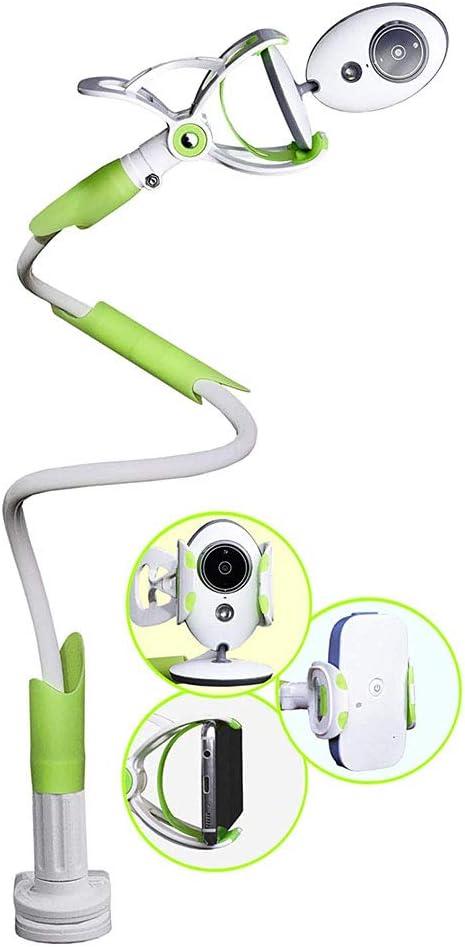 Soporte Universal para C/ámara,Soporte para Monitor de Beb/é,Soporte para C/ámara de Beb/és,Soporte para C/ámara Flexible para la Mayor/ía de Tel/éfonos /& Monitores de Beb/és,Verde