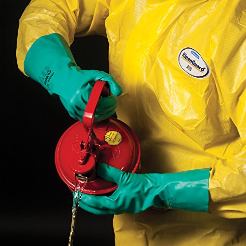Kleenguard A70 Chemical Spray Protection Coveralls (00687) Suit, Hooded, Booted, Zip Front, Elastic Wrists, Size 4XL, Yellow, 12 Garments/Case by Kimberly-Clark Professional (Image #3)