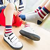 ZYTAN Socks for boys and girls Shutiao children aged 2-11 striped socks socks 5 pairs