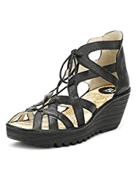 Fly London Womens YELI719FLY Wedge Leather Sandals
