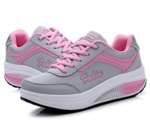 Pink Alto A Rosa Donna 35 Collo HiTime 8wqn0zUTx